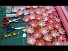 kimie gangiの 秋の壁面掲示②不織布で作るコスモス How to make the cosmos of flower Cosmos, Animals And Pets, Paper Flowers, Garland, Origami, Youtube, Wall Decor, Paper Crafts, Sewing
