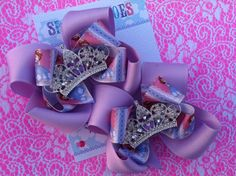 SOFIA THE FIRST Bows  Princess Sofia  Pigtail bows by SparkleToes3, $12.99