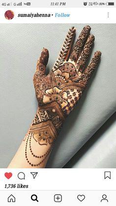 Gorgeous Indian mehndi designs for hands this wedding season Modern Henna Designs, Indian Henna Designs, Latest Bridal Mehndi Designs, Henna Art Designs, Mehndi Designs For Beginners, Mehndi Designs For Girls, Wedding Mehndi Designs, Dulhan Mehndi Designs, Latest Mehndi Designs