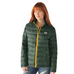 Green Bay Packers Fair Catch Women s Packable Puffy Jacket. Standard  women s sizes.  greenbay 5442a078f