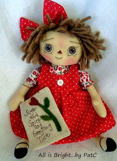 Primitive Raggedy Doll Callie por Allisbright en Etsy