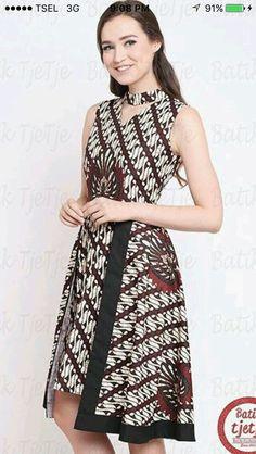 Batik dress Blouse Batik, Batik Dress, Blouse Dress, Simple Dresses, Cute Dresses, Batik Kebaya, Batik Fashion, Ethnic Dress, Oriental Fashion