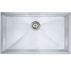 Blanco B512747 Precis Stainless Steel Undermount - Single Bowl Kitchen Sink - Stainless Steel  $1087