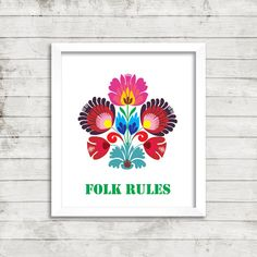 Printable picture  Folk rules  Downloadable PDF File  by sylaprint