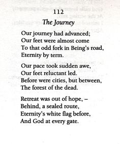 our journey had advanced emily dickinson