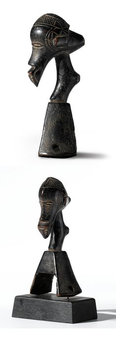 Africa | Heddle pulley from the Guro people of the Ivory Coast | Wood | ca. collected in situ in the early 1930s