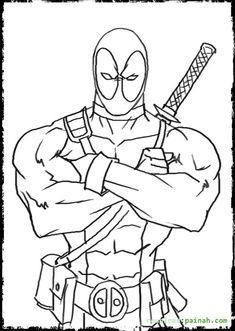deadpool coloring pages 03