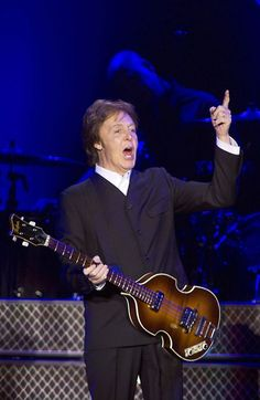 """Paul McCartney performed last night at Ahoy. He played hits from both his time with The Beatles and Wings. This year it is forty years ago that Paul McCartney for the first time performed on tour as a solo artist. So far he has performed 12 times in the Netherlands. The last concert was in 2009 during his """"Good Evening Europe"""" tour. #paulmccartney"""