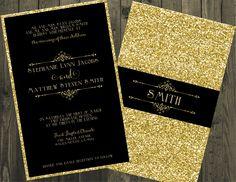 15 Best Black And Gold Wedding Invitation Images Dark Red Wedding