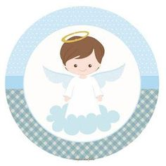 Christening with theme - Christening with theme - Baptism Party, Boy Baptism, Christening, Angel Theme, Ideas Para Fiestas, First Holy Communion, Party Kit, Baby Scrapbook, Holidays And Events