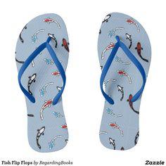 Koi Fish Flip Flops $29.95 via Zazzle