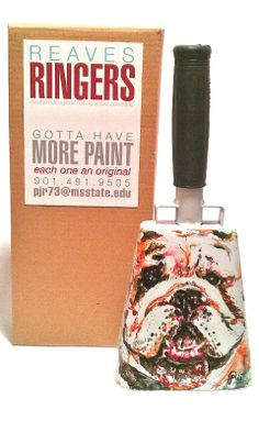 Bully hand-painted original cowbell--Piper Reaves
