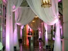 Drape and lighting at the Fairmont by WishLaura.