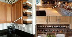 Cateva idei ca sa iti organizezi mai bine bucataria aglomerata si mica Mai, Storage Solutions, Kitchen Ideas, Kitchen Cabinets, House Design, Home Decor, Kitchen Maid Cabinets, Shed Storage Solutions, Interior Design