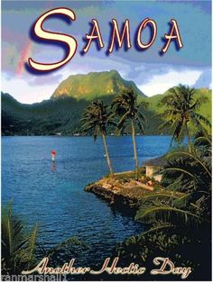 American-Samoa-Islands-Island-United-States-America-Travel-Advertisement-Poster