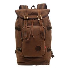 Sechunk Multifunction Vintage Military Cotton Canvas Backpack ** Discover this special product, click the image : Backpacking bags