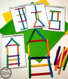 Preschool Patterns Activity - Building Patterns Construction Theme Looking for fun Preschool Construction Theme Activities for kids? Check out these 16 Hands-On Construction Learning Activities and Crafts for Preschool or Kindergarten. Preschool Learning Activities, Preschool Classroom, Toddler Activities, Kids Learning, Preschool Themes, Creative Curriculum Preschool, Quiet Time Activities, Family Activities, Preschool Family Theme