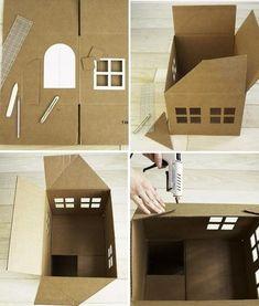 cardboard cat house - Bing Images Cat Room, Cat Tree, Cat Playhouse, Cardboard Cat House, Cat Castle, Cat House Diy, Fluffy Kittens, Cat Crafts, Cat Furniture