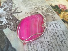 quartz faceted wirework pendant gifts mum will by KarenJJewellery