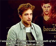 No one hates Twilight more than Robert Pattinson. - Imgur