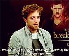 No one hates Twilight more than Robert Pattinson. - Imgur
