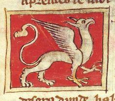 À l'image de son aspect composite à plumes et à poils, le griffon médiéval est marqué d'un symbolisme ambivalent. De bon augure, il allie la puissance terrestre et la noblesse du lion à l'essor céleste et la vue perçante de l'aigle. C'est ainsi la créature hybride idéale, symbole de la double nature du Christ (humaine et divine) en raison de ses composantes terrestre (le lion) et céleste (l'aigle).