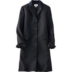 WOMEN IDLF FLANNEL CHESTER COAT, BLACK, large