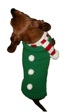 Candy Cane Scarf Dog Sweater from SimplyDogStuff.com will have your pooch ready for any holiday occasion.