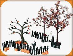 Dept 56 Autumn/Halloween Landscape Set of 6 #52992