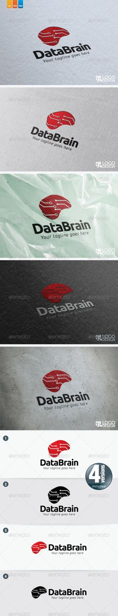 Data Brain — Photoshop PSD #data #eletronic • Available here → https://graphicriver.net/item/data-brain/2764579?ref=pxcr