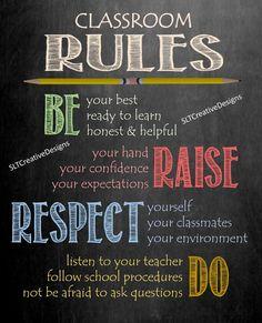 Classroom Rules Classroom Sign Teacher Classroom Decor | Etsy