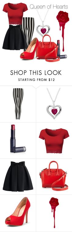 """""""Queen of Hearts"""" by da-best78 ❤ liked on Polyvore featuring Pilot, Lipstick Queen, Chicwish, Givenchy, disney and disneybound"""