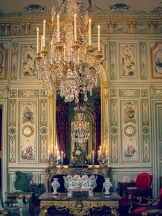 ♜ Shabby Castle Chic ♜ rich and gorgeous home decor - The Chinese Salon. Chateau Champs-sur-Marne. France.