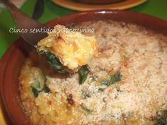 Cinco sentidos na cozinha: Bacalhau espiritual com espinafres