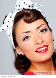 Glam Pin Up Girl Makeup.