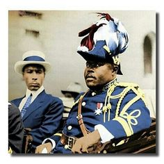 Prophet Noble Drew Ali with Marcus Garvey.