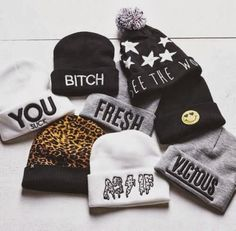 hat dress beanie vicious fuck off winter swag swagger fresh bitch stars smiley beanie pom pom beanie black and white cute as if leopard prin. Swagg Girl, Style Tumblr, Swag Style, My Style, Dope Style, Girl Style, Outfits For Teens, Cute Outfits, Dope Hats