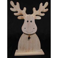 Ozdoba świąteczna renifer drewniany jako dekoracja stołu na święta Bożego Narodzenia. Oryginalne pomysły na dekoracje świąteczne na stronie hurtowni dekoracji.