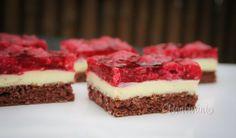 Malinové rezy • recept • bonvivani.sk Czech Recipes, Ethnic Recipes, Pavlova, Cheesecakes, Nutella, Baked Goods, Sweet Recipes, Food And Drink, Cooking Recipes