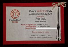 The Artisan Chef: MasterChef Birthday Party