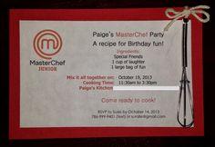 The Artisan Chef: MasterChef Birthday Party