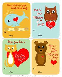 iheartprintsandpatterns: Valentine's Day Cards - kate.net