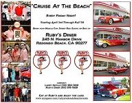 Cruise at Ruby's - sbbjVroom, vroom! The Cruise is back! 🚗   ️  Every Friday night through October and features a gathering of vintage automobiles on display in the Ruby's Diner parking lot from 4 to 8 p.m. http://qoo.ly/hqn2a
