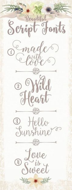 Free fonts for copying in Bible journaling (Favorite Fonts Free) Fancy Fonts, Cool Fonts, Pretty Fonts, Beautiful Fonts, Fancy Script Font, Awesome Fonts, Calligraphy Fonts, Typography Fonts, Modern Calligraphy