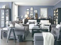 Three-seater Ektorp sofa £269, Ikea