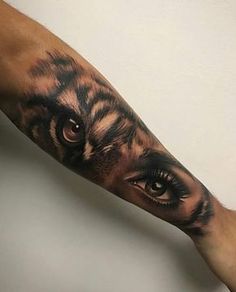 lion eyes tattoo Bengal Tiger is part of Best Lion Tiger Tattoo Images Wild Animals Big Cats - tiger eyes by Artis Garcia at Certified Customs in Denver, CO tattoos beautytatoos Tigeraugen Tattoo, Body Art Tattoos, Tattoo Forearm, Forearm Sleeve, Girl Arm Tattoos, Tattoo Quotes, Brave Tattoo, Fierce Tattoo, Makeup Tattoos
