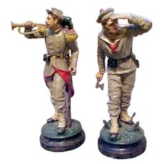Cast Iron Models of Toy Soldiers United States circa 1875 A rare pair of cast iron models of toy soldiers from Bradley and Hubbard Manufacturing Co. Antique Decor, Antique Toys, Vintage Toys, Lead Soldiers, Toy Soldiers, Infantry Marines, Don Delillo, Victorian Toys, Character And Setting