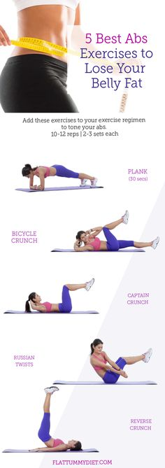 , Looking for some effective exercises to burn and lose tummy fat? Here are 5 supper effective abs exercises to help flatten your tummy fast. , 5 Best Exercises to Lose Belly Fat Fast and Flatten Your Tummy 30 Day Ab Workout, Tummy Workout, Belly Fat Workout, Tummy Exercises, Ab Exercises For Women, Quick Ab Workout, Abdominal Exercises, Workout Routines For Beginners, Abs Workout Routines