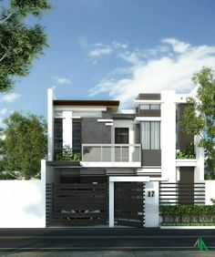 . Modern Minimalist House, Modern House Design, Home Outer Design, Tagaytay, Luxury House Plans, House Elevation, New Home Designs, Little Houses, Villas