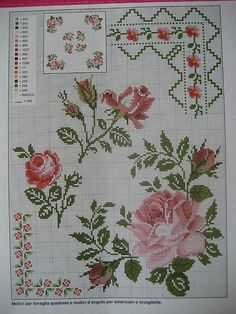 This Pin was discovered by Ayş 123 Cross Stitch, Cross Stitch Heart, Cross Stitch Borders, Cross Stitch Flowers, Cross Stitch Designs, Cross Stitching, Cross Stitch Embroidery, Hand Embroidery, Cross Stitch Patterns